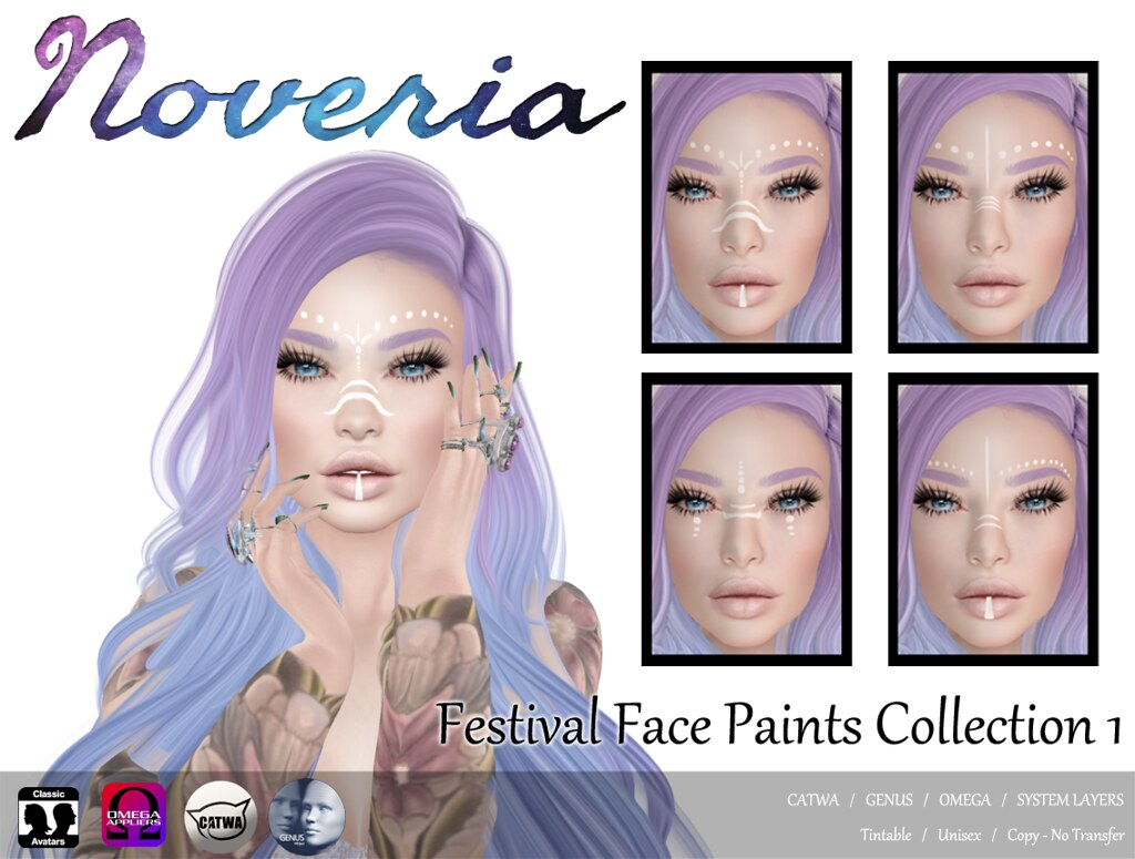 Festival Face Paints Collection 1