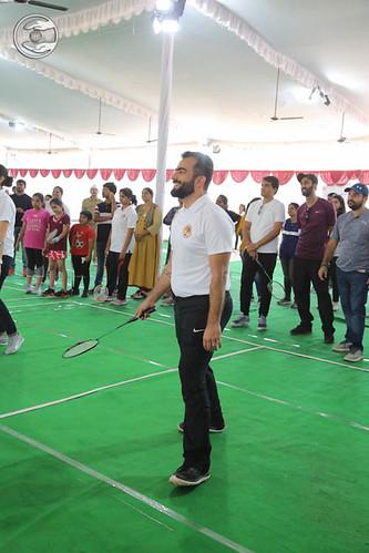 Ramit Ji playing Badminton