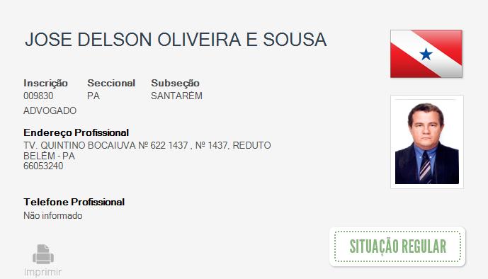 Advogado sofre infarto em audiência na Justiça Federal em Santarém e morre, Advogado Delson Souza