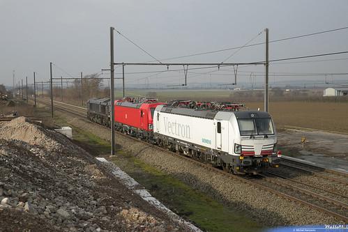 653-04 Crossrail + 193 318 DB Cargo + 193 901 SIEAG . Z 42588 . Warsage . 21.02.19 .