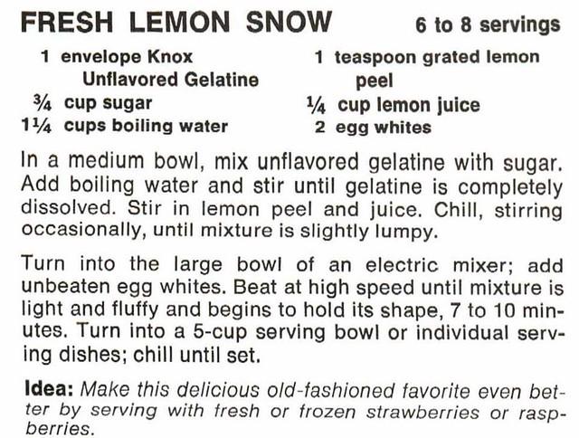 The Knox Gelatine Cookbook, 1977