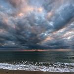 13. Detsember 2018 - 16:53 - 夕日が染み出るようにまだら雲を照らしています。