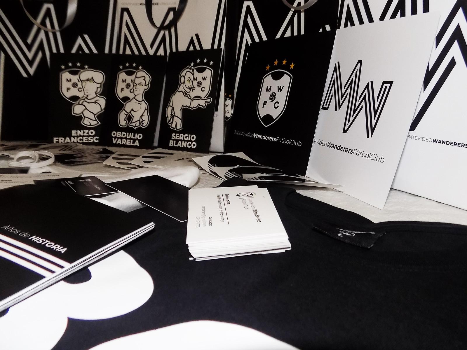 Recreación 19 - Montevideo Wanderers, proyecto de Mathías Canclini, de la Licenciatura en Diseño Gráfico