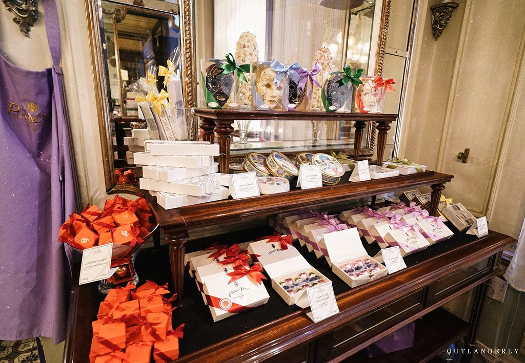 Demel's cafe, chocolates