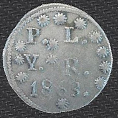 1863 mystery coin obverse