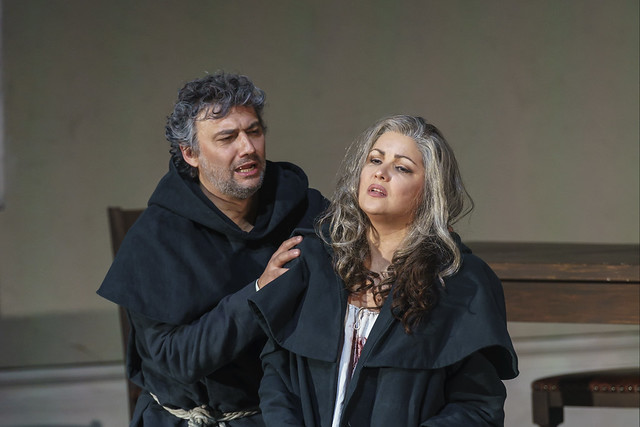 Jonas Kaufmann as Don Alvaro and Anna Netrebko as Leonora in La forza del destino, The Royal Opera © 2019 ROH. Photograph by Bill Cooper