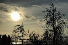 Sun Going Down Over Port Susan  Boe Road, WA