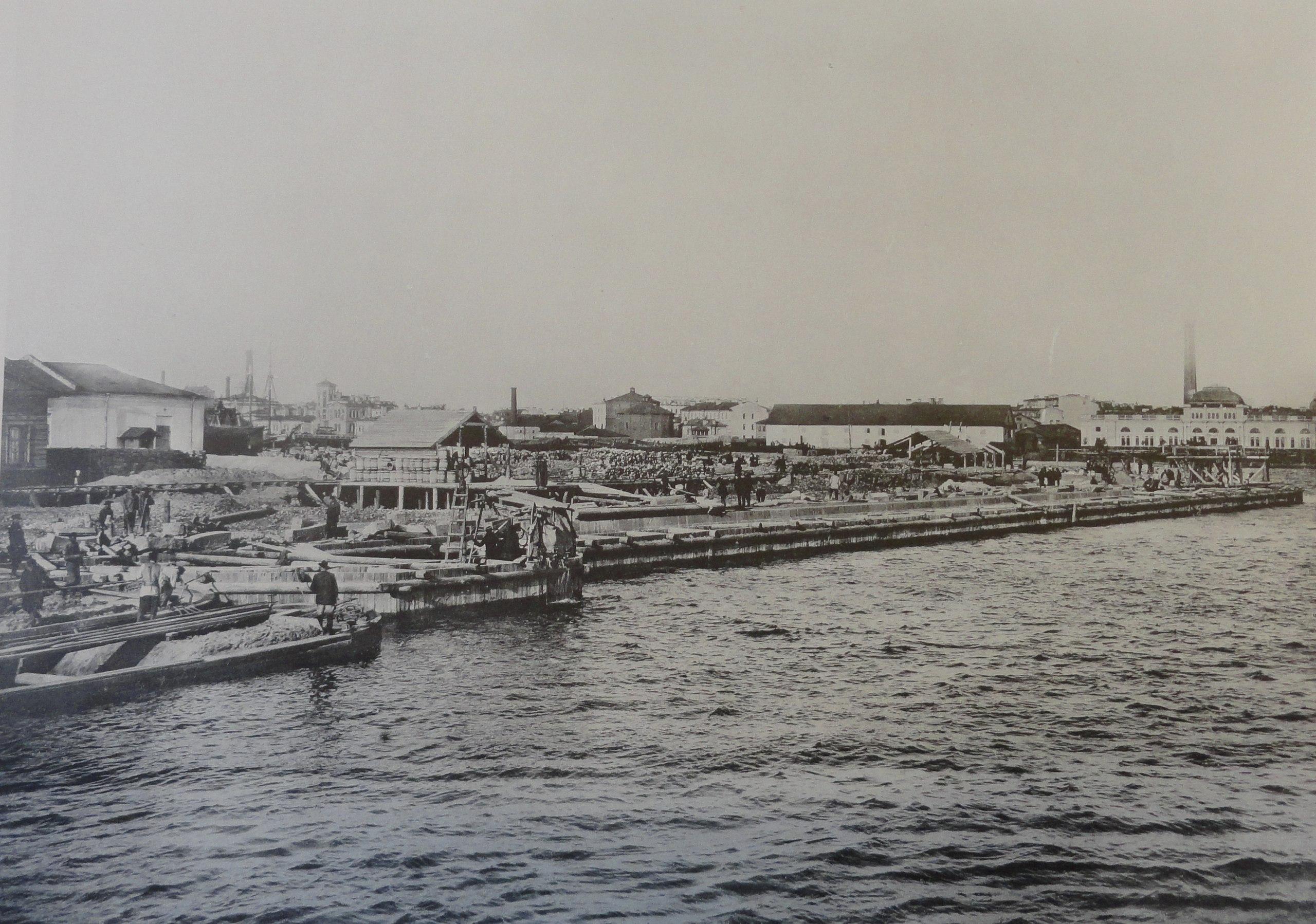 1902. Набережная на Гагаринском буяне у закругления. Осень