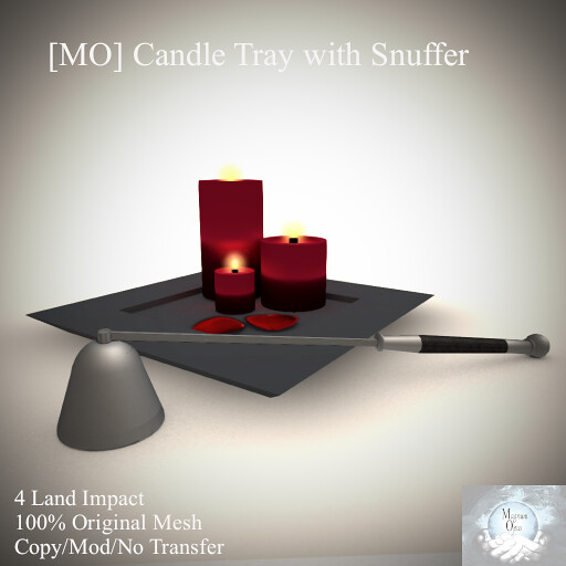 [MO] Candle Tray with Snuffer