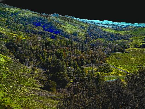 portolahills california photo digital winter monastery abbey holyplace paintshoppro photoshop sfx fauxchrome landscape