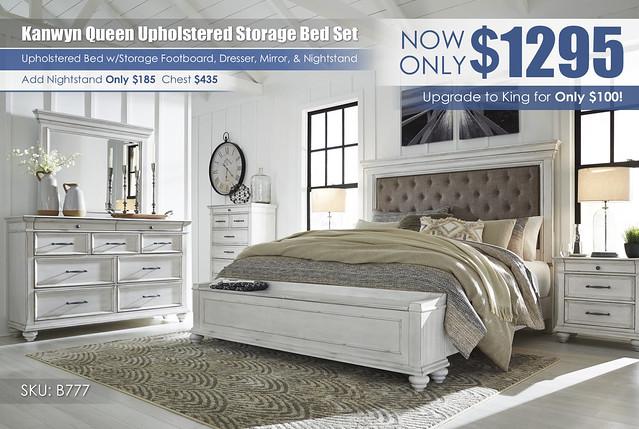 Kanwyn Vintage White Storage Upholstered Bedroom Set_B777-158-56S-MOOD-A