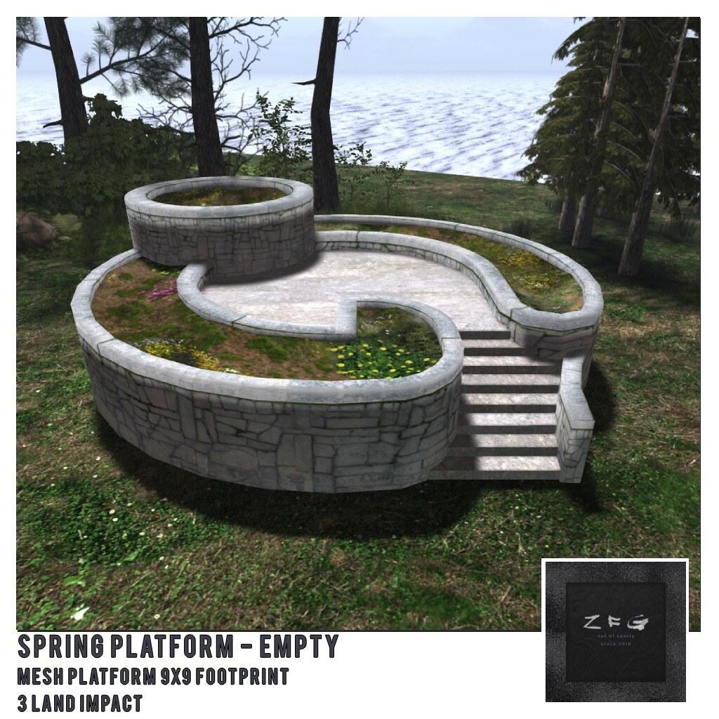 {zfg} home spring platform empty