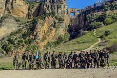 La X Bandera del Tercio «Alejandro Farnesio» 4º de #LaLegión ex @EjercitoTierra, realiza una marcha de 24 Kms con una acumulada de 834mtrs por la Serranía de Ronda.