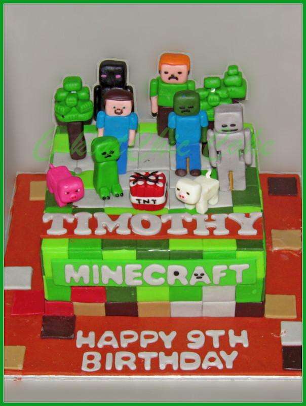 Cake Minecraft TIMOTHY 15 cm