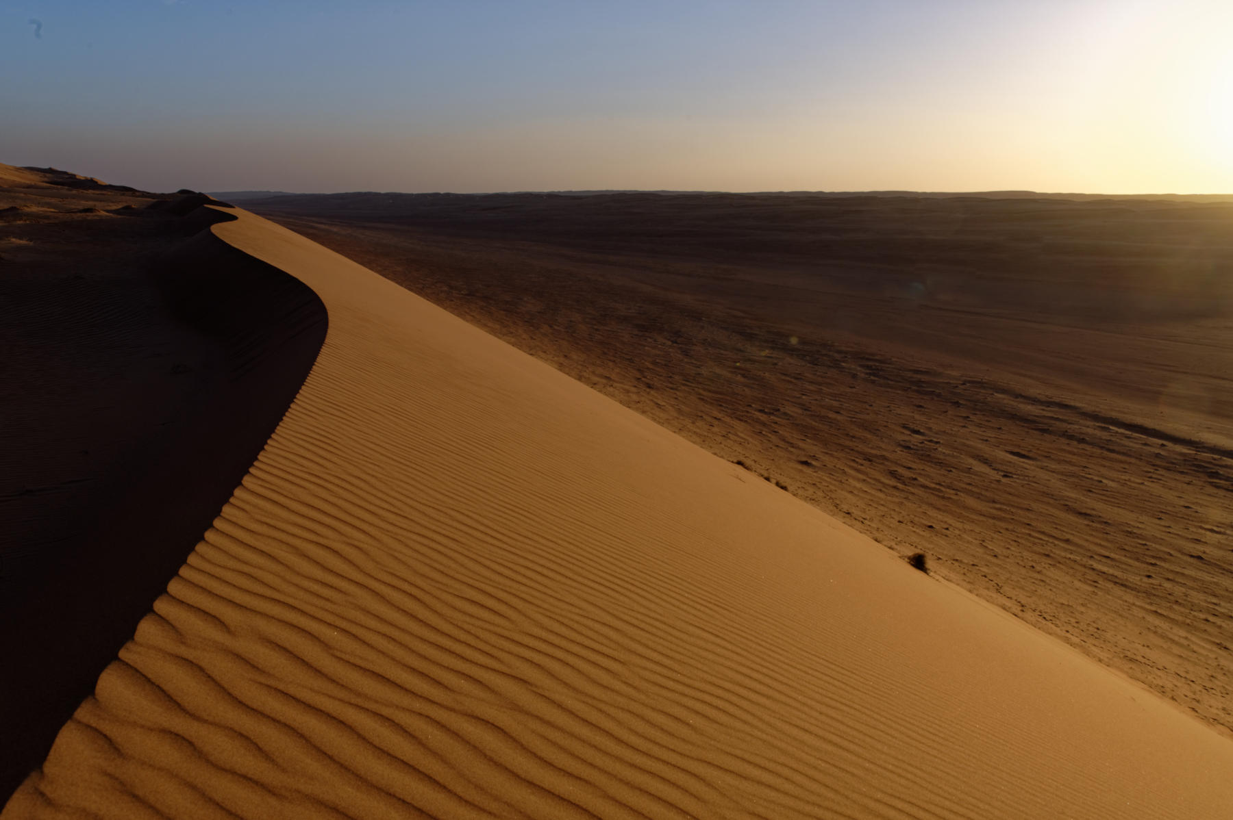 Sunset, Wahiba sands, Oman desert