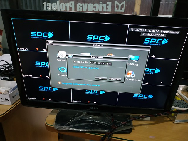Upgrade Firmware DVR CCTV SPC 8CH