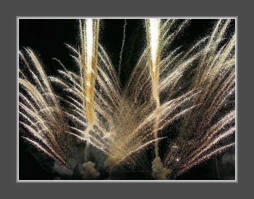 Feuerwerk in Hard