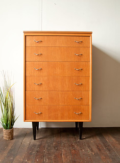 A light oak chest by Beeanese Furniture