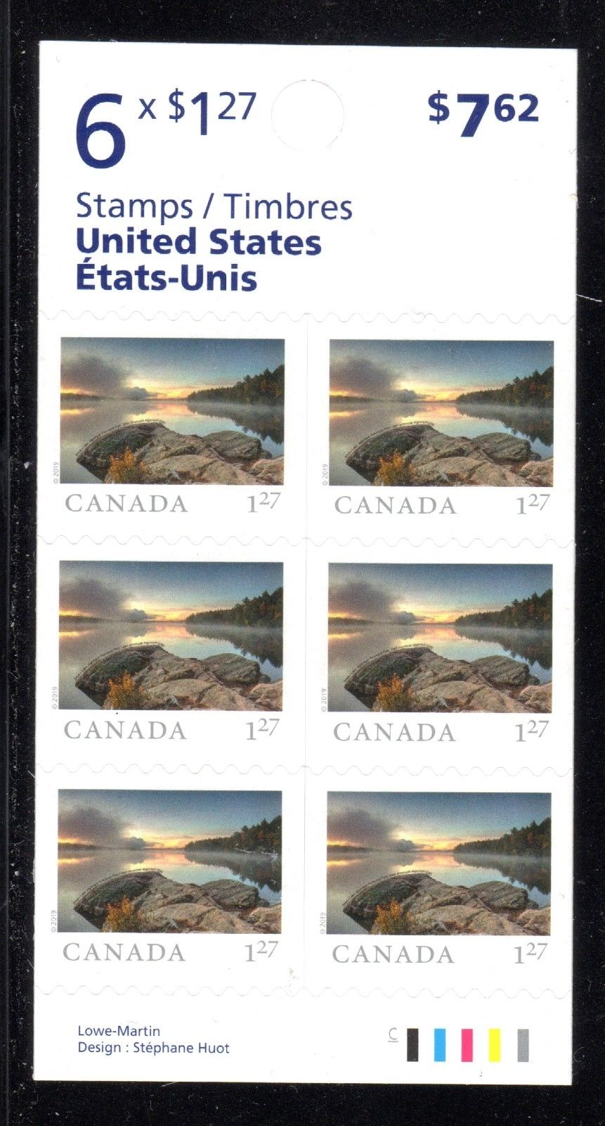 Canada - From Far and Wide (January 14, 2019) U.S. rate booklet of 6