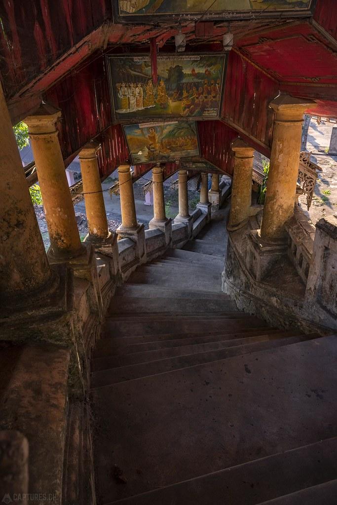 Stairs to the Thingaha Pagoda - Mawlamyaing