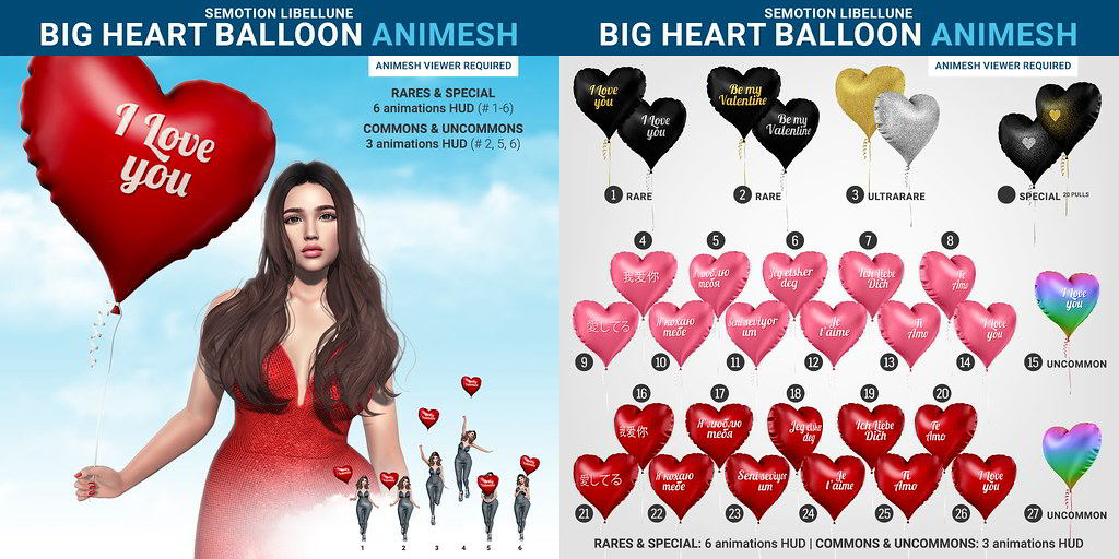SEmotion Libellune Big Heart Balloon Animesh @ Equal10