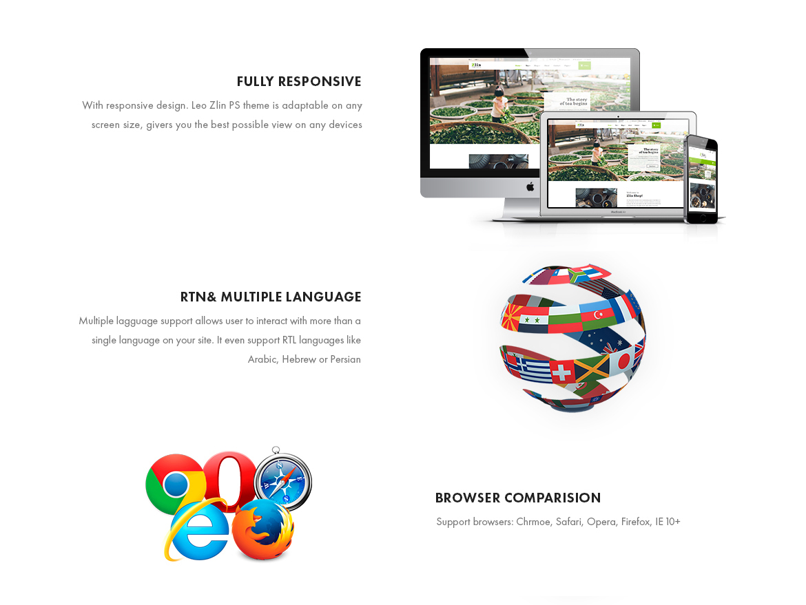 theme features -Leo Zlin - Tea Shop Prestashop Theme