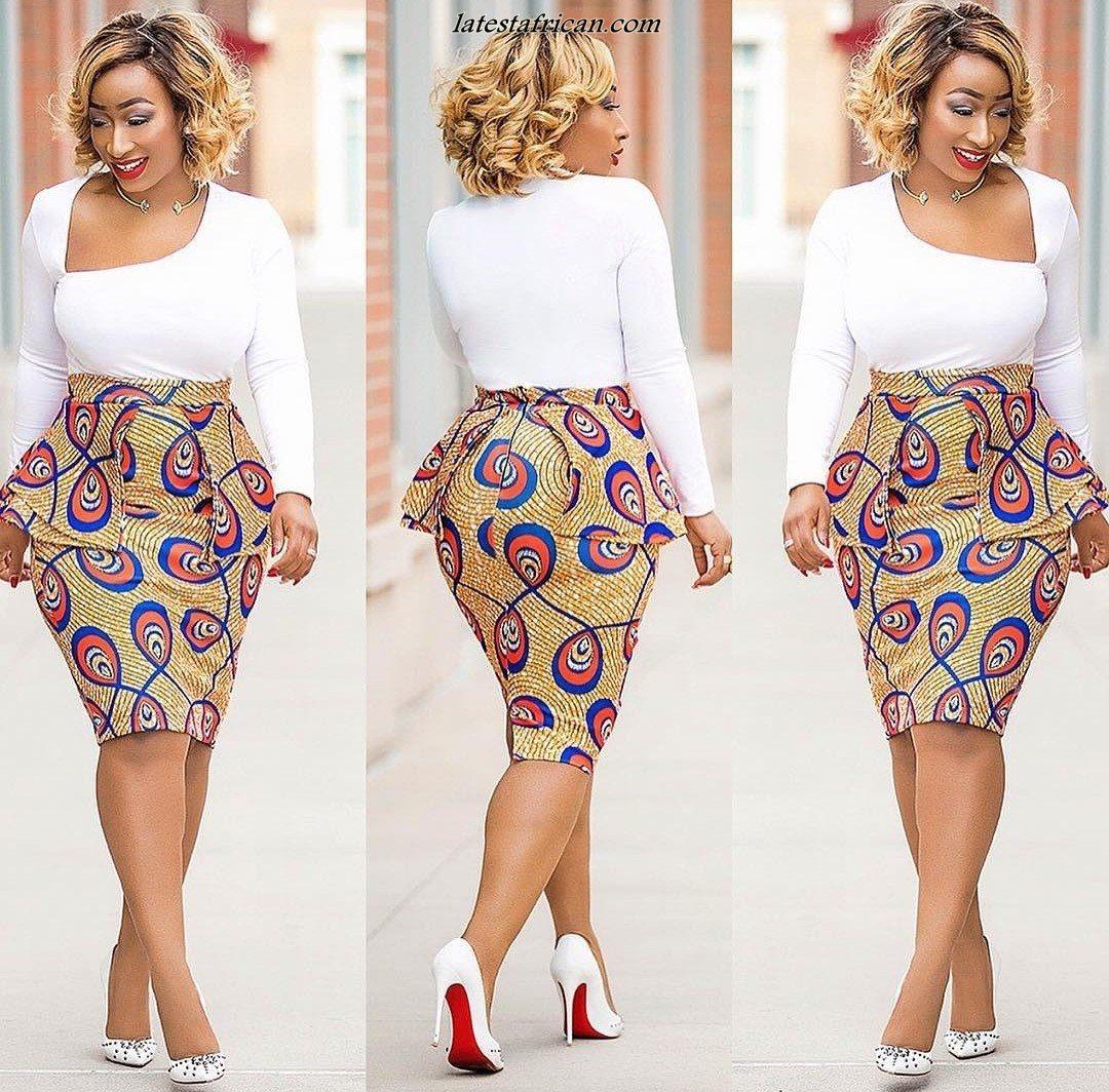 Cute Pencil Skirt African Styles 2019