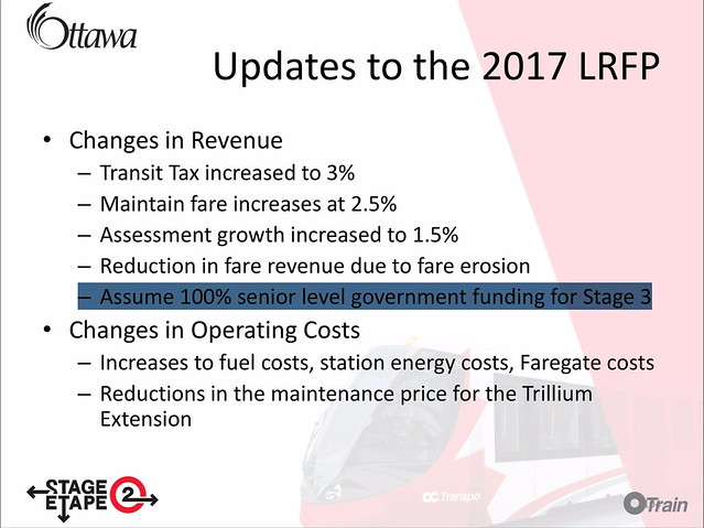 Stage 2 LRT presentation slide 104 Updates to the 2017 LRFP