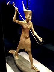 Statuette en bois doré de Toutânkhamon harponneur, 1336-1326 av. J.-C.