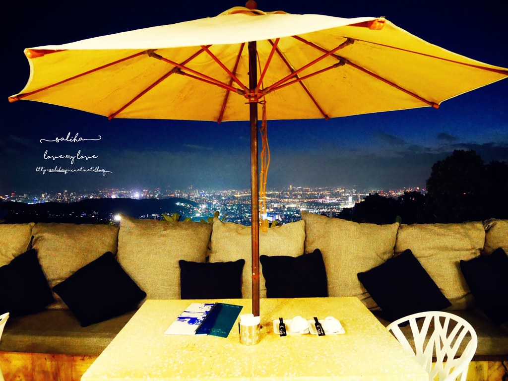 台北陽明山一日遊必吃必玩行程景點推薦THETOP屋頂上好吃景觀餐廳看夜景池畔 (5)