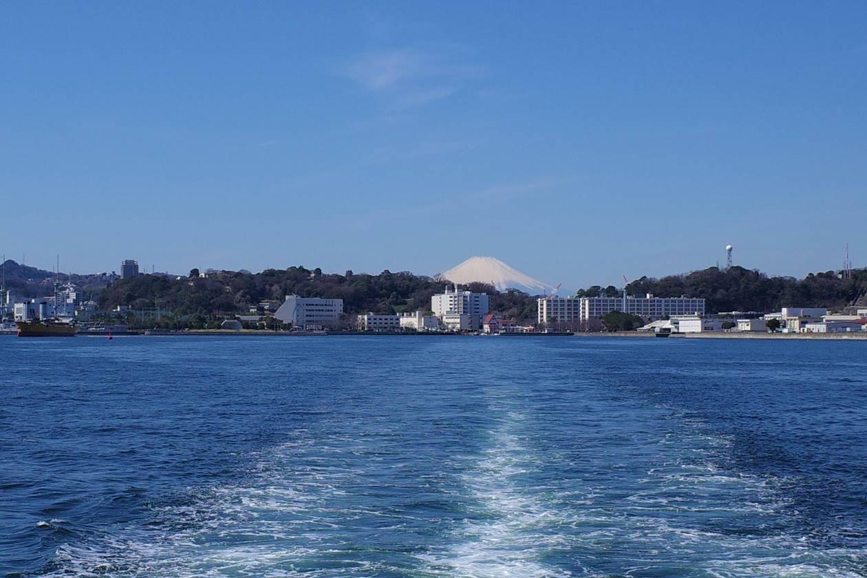 猿島から見えた富士山