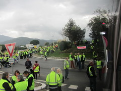 Tall de trànsit d'armilles grogues del 17 de novembre del 2018 - Rotonda El Sicret - El Voló - Photo of Saint-Jean-Lasseille