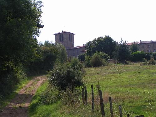 20080831 28833 1001 Jakobus St Jean Soleymieux Weg Kirche Häuser