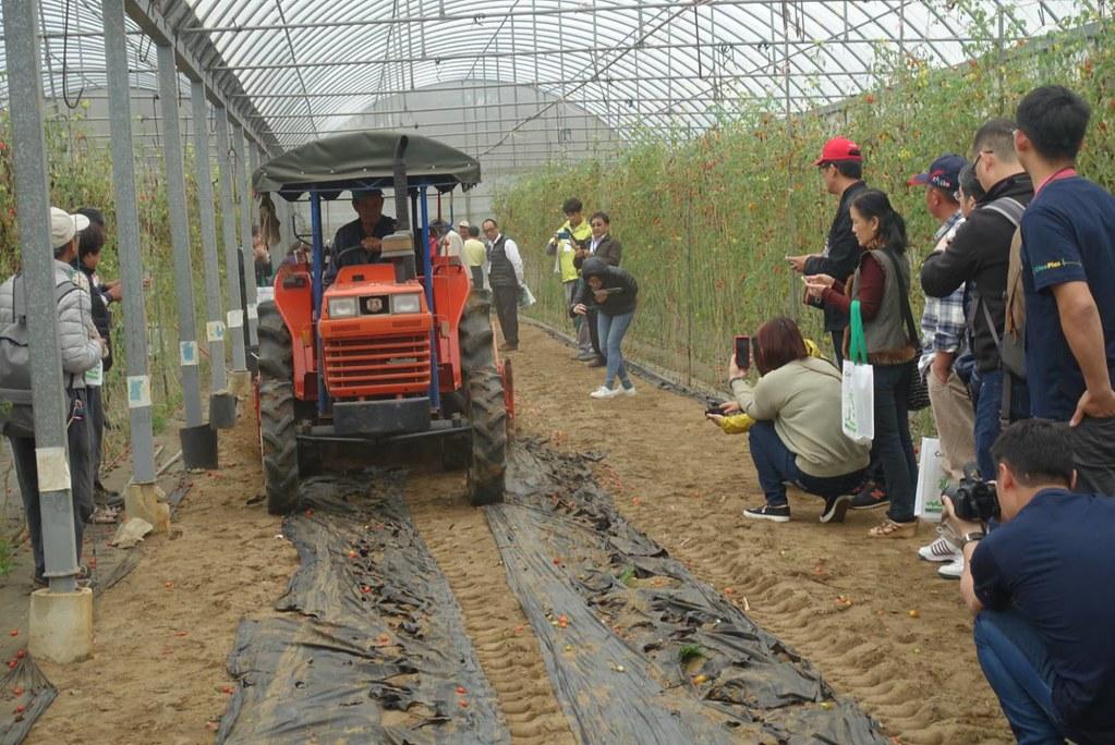 農作物採收後農民實際操作用機具將農地膜翻入土中 來源:農業委員會公關科