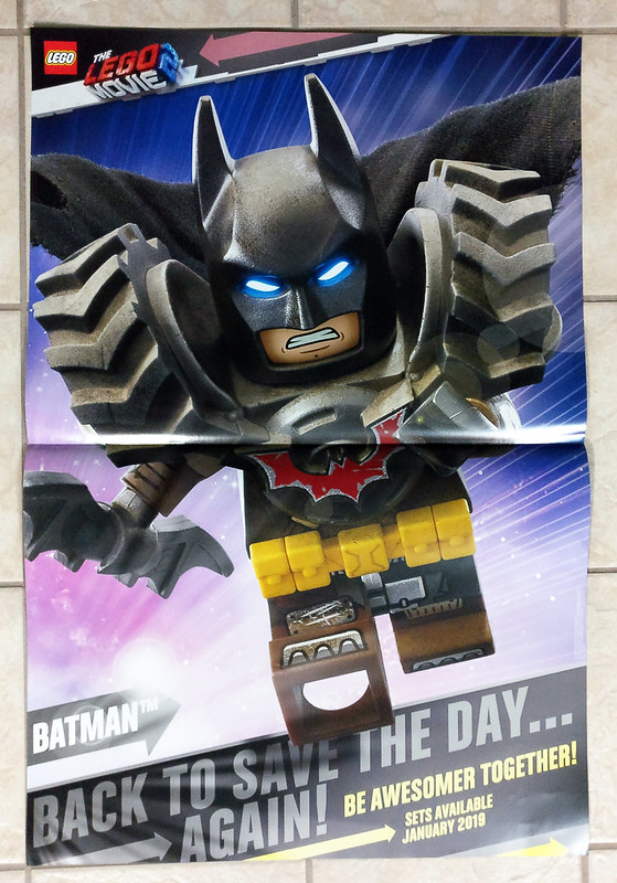 The LEGO Movie 2 Batman Poster