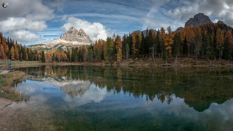 Lago Antorno with Torre dei Scarperi