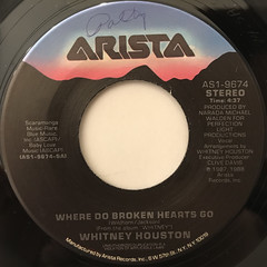 WHITNEY HOUSTON:WHERE DO BROKEN HEARTS GO(LABEL SIDE-A)