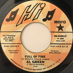 AL GREEN:FULL OF FIRE(LABEL SIDE-B)