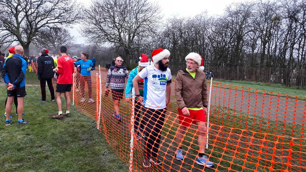 Christmas Parkrun.Bromley Parkrun Christmas Day 2018 Runners In The Finish