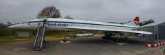 Boarding the retired supersonic Concorde (G-BBDG) - Brooklands Museum