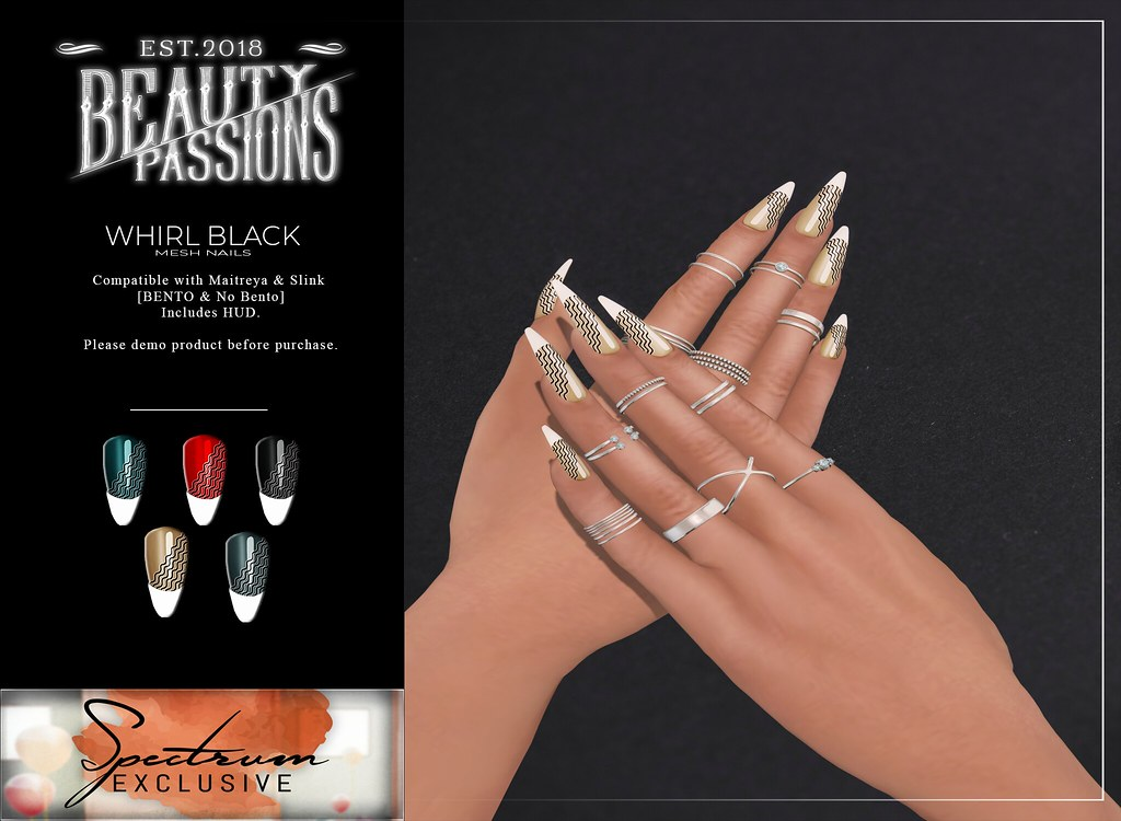 ~Beauty Passions~Whirl Black  @ Spectrum