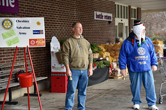 """Despite being another cold morning, Rep. Fishbein spent time ringing the bell for the Salvation Army in front of the Cheshire Stop and Shop on Saturday, December 15.  Working as a """"guest ringer"""" for the Salvation Army has become a tradition for Rep. Fishbein, and many other Republican lawmakers, who together have collected more than $200,000 since they started volunteering nearly a decade ago."""