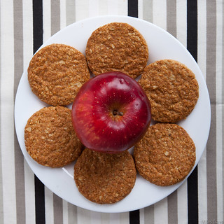 Apple and biscuits
