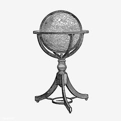 Vintage globe stand illustration
