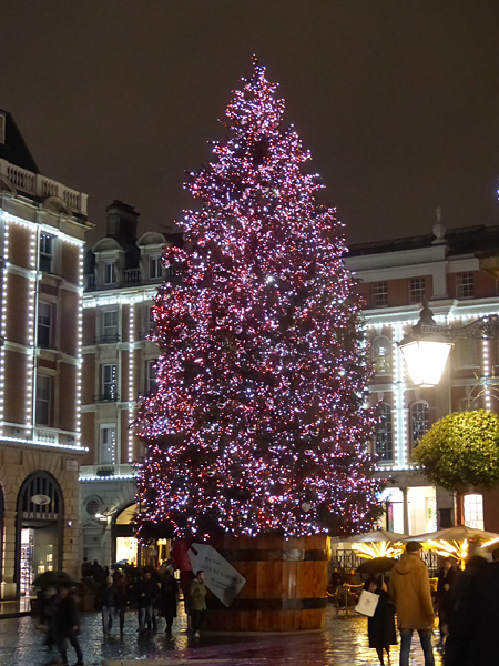 le sapin rose de Covent Garden