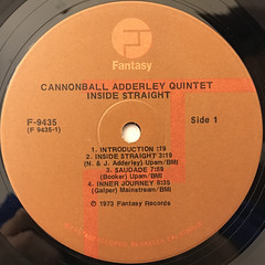 THE CANNONBALL ADDERLEY QUINTET:INSIDE STRAIGHT(LABEL SIDE-A)