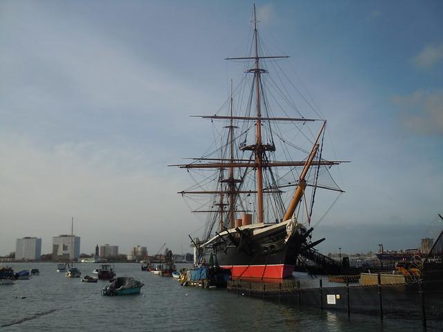 HMS Warrior, Portsmouth Dockyard., Nikon COOLPIX S8000