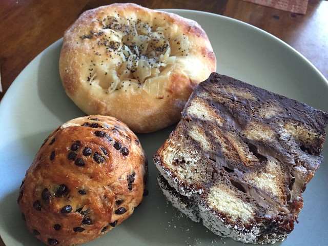 Bialy, Chocolate Chip Brioche, Spicy Mexican Chocolate Bread Pudding