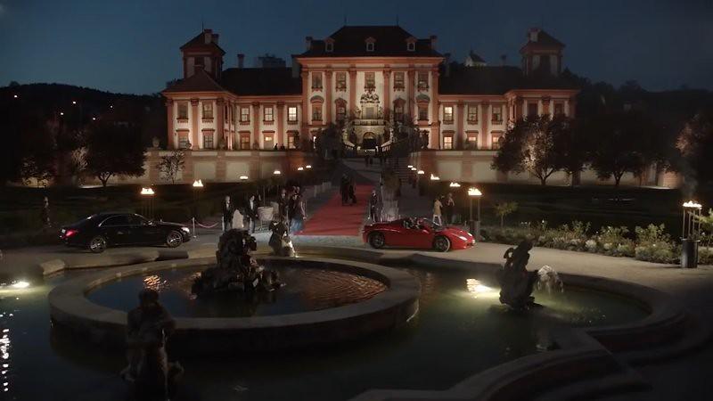 Czech Palace outskirts city