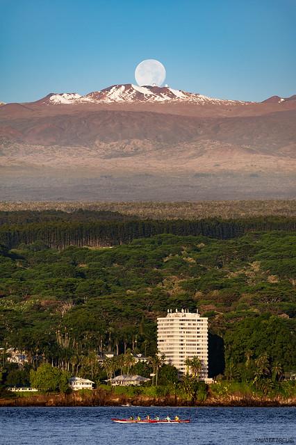 Moonset Behind Mauna Kea